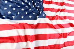 tät flagga för american upp Royaltyfri Foto