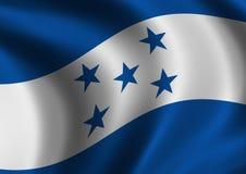 tät flagga honduras upp Royaltyfri Bild