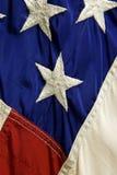 tät flagga upp oss Royaltyfri Fotografi