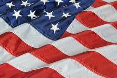 tät flagga upp USA Arkivbilder