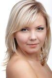 tät flicka för blondin upp Royaltyfri Fotografi
