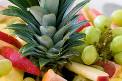 tät fruktplatta upp Royaltyfria Foton