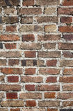 tät gammal övre vägg för tegelsten arkivbilder