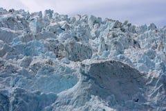 tät glaciär upp Royaltyfri Fotografi