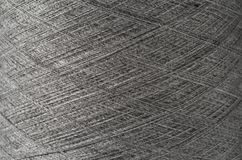 tät grå textur upp garn Arkivfoto