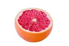 tät grapefrukt för bakgrund som isoleras upp white Royaltyfri Bild
