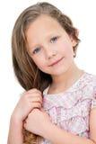 tät gullig flickastående upp Royaltyfria Foton