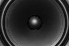 tät högtalare för audio upp sikt Arkivfoto