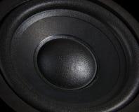 tät högtalare för black Fotografering för Bildbyråer