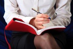 tät handanteckningsbok upp Arkivbild