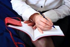 tät handanteckningsbok upp Royaltyfri Bild
