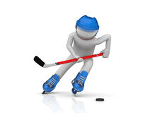 tät hockeyspelare upp Royaltyfri Foto