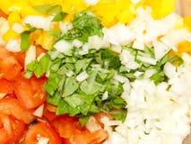 tät ingredienssallad upp grönsaken Royaltyfri Foto