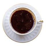 tät kaffekopp som isoleras upp white Royaltyfri Bild