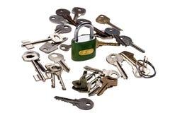 tät key padlock upp Royaltyfri Foto