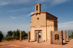 tät kloster montserrat spain för kapell till Royaltyfria Foton