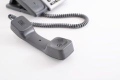 tät kontorstelefon för blue som skjutas som tonas upp Royaltyfria Bilder