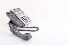 tät kontorstelefon för blue som skjutas som tonas upp Royaltyfria Foton