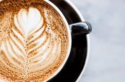 tät latte för caffe upp Fotografering för Bildbyråer