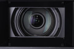 tät lins för kamera upp Arkivfoto