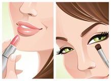 tät makeup upp Royaltyfri Fotografi
