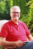 tät manståendepensionär upp Royaltyfri Fotografi