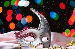 tät maskering för karneval upp Arkivbild