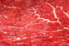 tät meatred upp arkivfoton