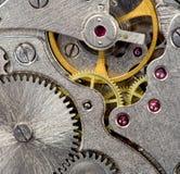 tät mekanisk gammal övre watch Arkivfoto