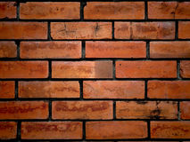 tät modell för tegelsten upp väggen Arkivfoto