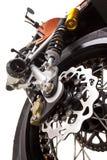tät motorcykel för broms upp Arkivbilder