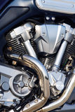 tät motormotorcykel upp Royaltyfri Foto