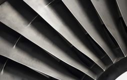tät motorstråle turbofan upp Royaltyfri Fotografi