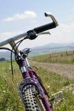 tät mountainbike upp Royaltyfri Foto