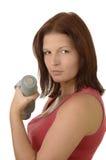tät nätt sportswoman upp Fotografering för Bildbyråer