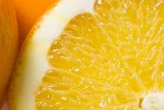 tät orange 5 upp Arkivfoton