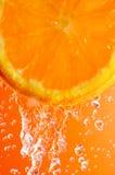 tät orange skiva upp Royaltyfria Bilder