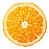 tät orange skiva upp Arkivfoto
