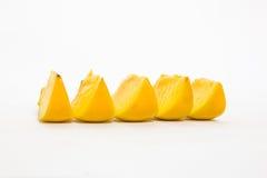 tät persimmon för bakgrund upp white royaltyfri fotografi