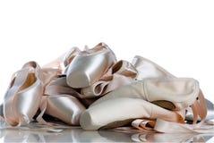 tät pointe för balett upp royaltyfri foto