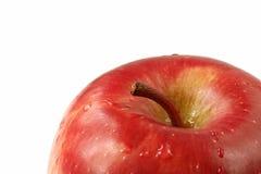 tät red för äpple upp Arkivfoto