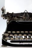 tät retro skrivmaskin för antikvitet upp Royaltyfri Fotografi