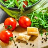 tät sallad som skjutas upp grönsaken Royaltyfri Fotografi