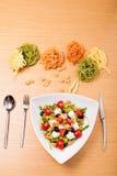 tät sallad som skjutas upp grönsaken royaltyfria bilder