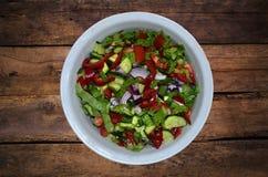 tät sallad som skjutas upp grönsaken Arkivbilder