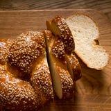 tät sesam för bröd upp Royaltyfri Foto