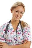 tät sjuksköterskastående upp barn Royaltyfria Foton