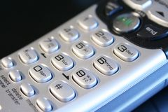 tät sladdlös telefon upp Arkivbild