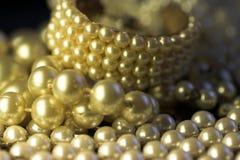 tät smyckenpärla upp Royaltyfri Bild