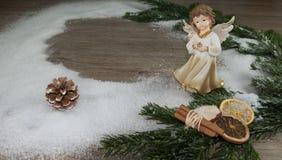 tät snow för ängel upp Arkivbilder